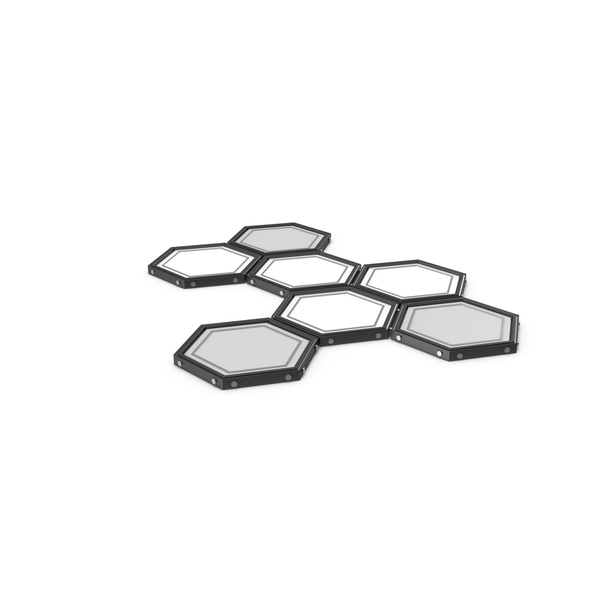 Hexagon Panel Black PNG & PSD Images