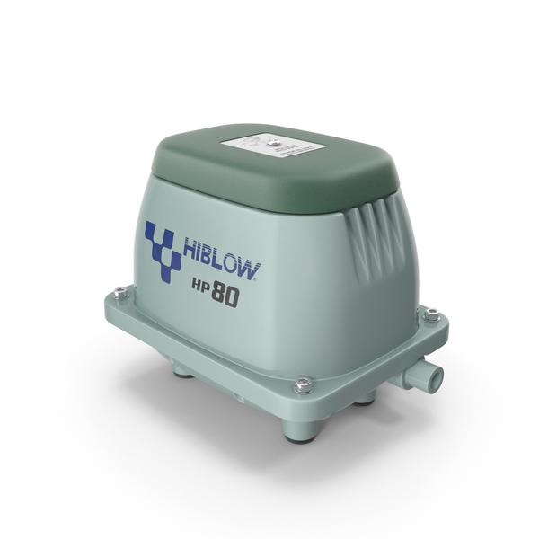 Hiblow HP80 Aeration Pump PNG & PSD Images