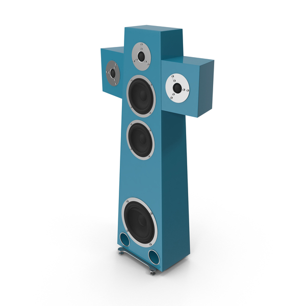 High End Speaker Blue Green PNG & PSD Images