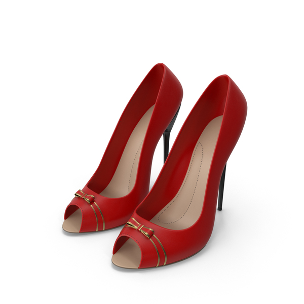 High Heels Women's Shoes Red PNG & PSD Images