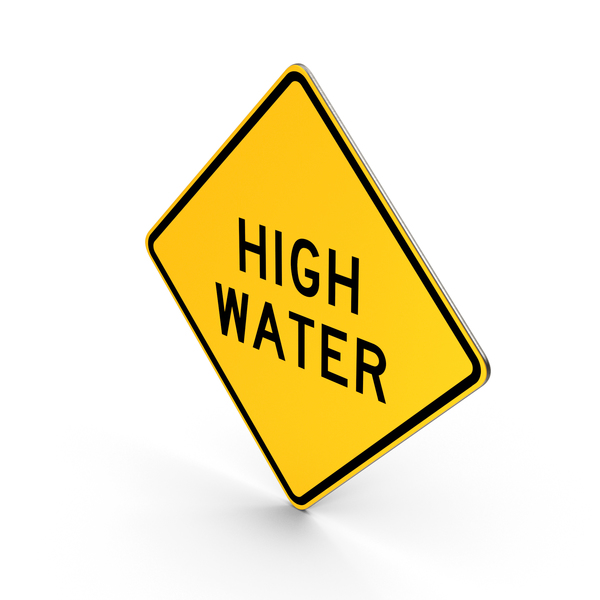High Water Indiana Road Sign PNG & PSD Images