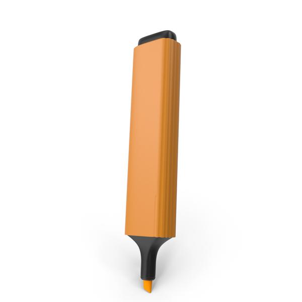 Highlight Marker Orange PNG & PSD Images