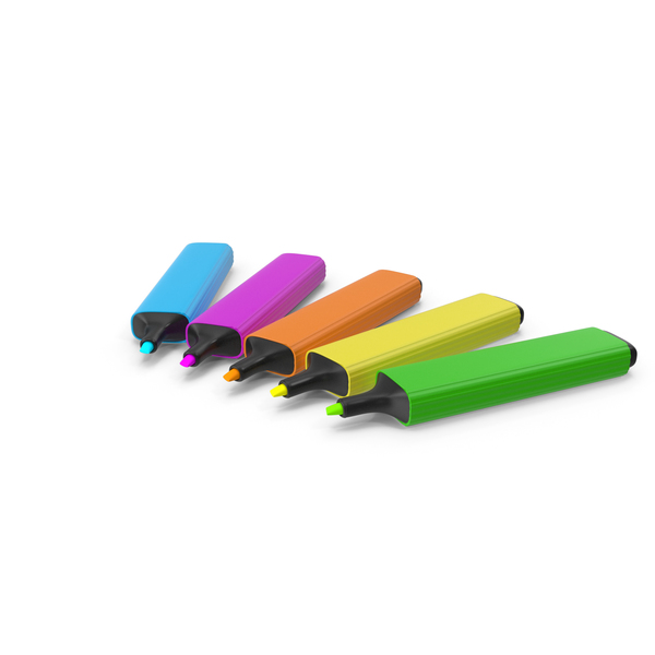 Highlight Markers PNG & PSD Images