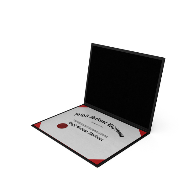 Highschool Diploma in Folder PNG & PSD Images