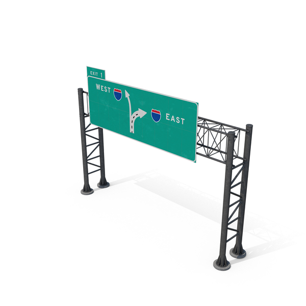 Signage: Highway Sign on Trellis PNG & PSD Images