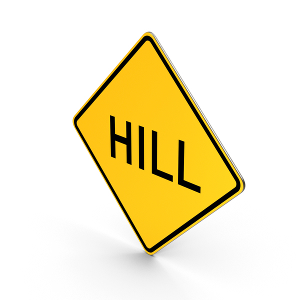 Hill Road Sign PNG & PSD Images
