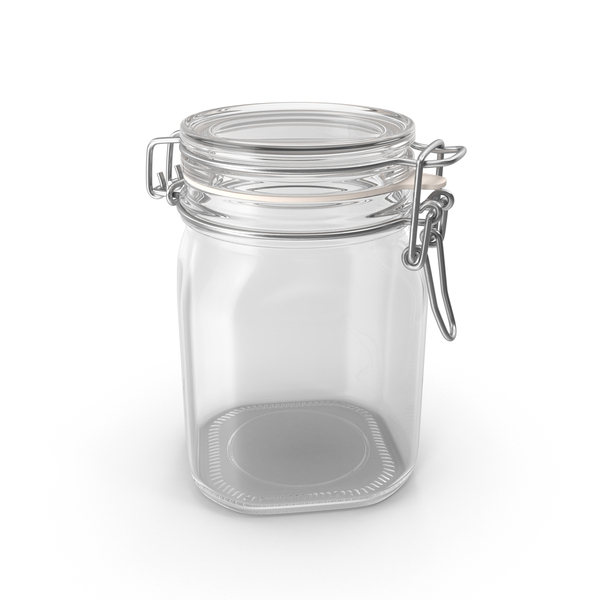 Hinged Glass Jar PNG & PSD Images