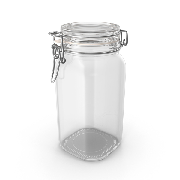 Hinged Glass Kitchen Jar PNG & PSD Images