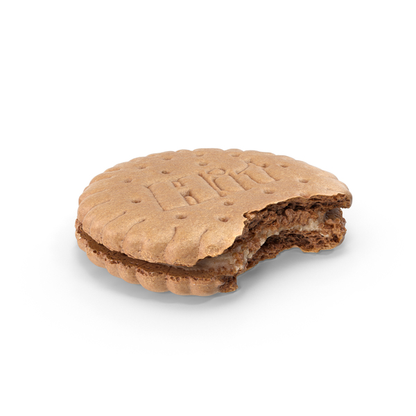 Hit Filled Sandwich Cookie Bitten PNG & PSD Images