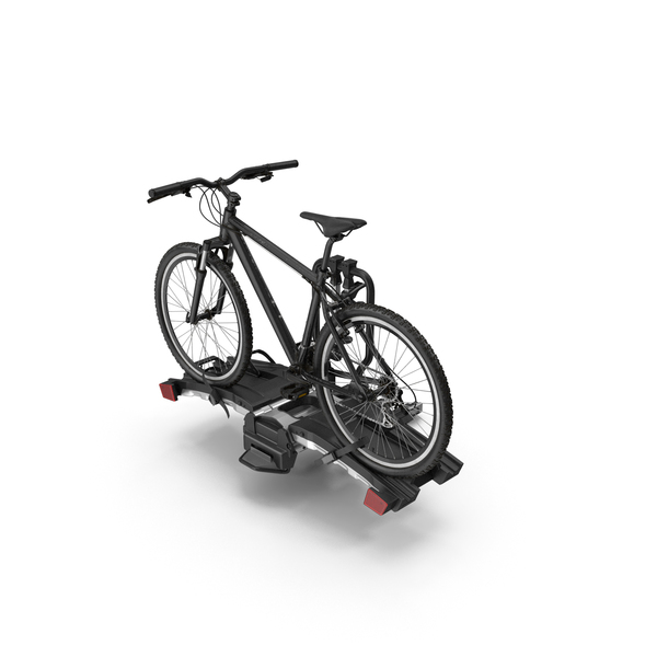 Bicycle Carrier: Hitch Bike Racks with Mountain Bike PNG & PSD Images