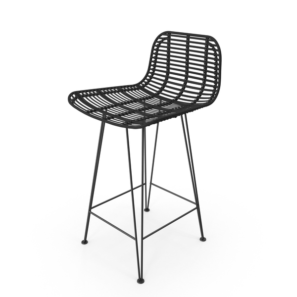 HKliving Rattan Bar Stool PNG & PSD Images