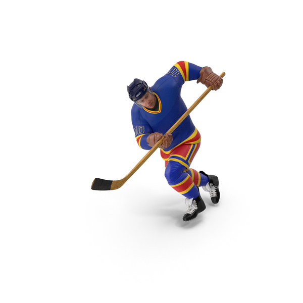 Hockey Attacker Character 03 PNG & PSD Images