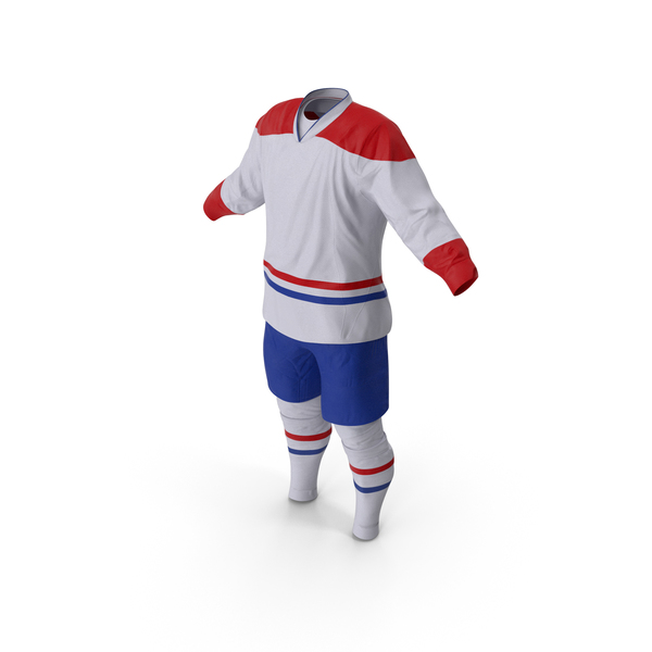 Hockey Clothes White PNG & PSD Images