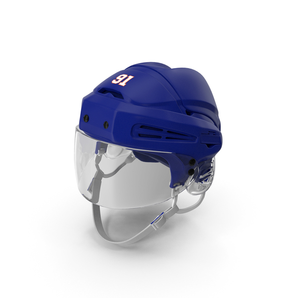 Hockey Helmet Blue PNG & PSD Images