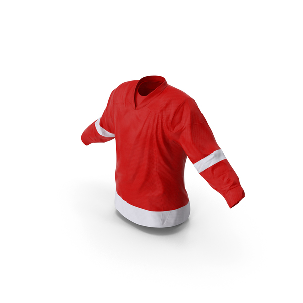 Shirt: Hockey Jersey Red PNG & PSD Images