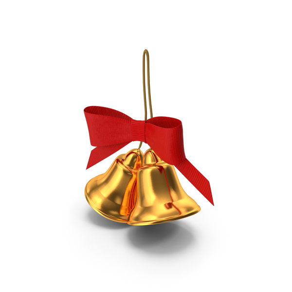 Holiday Christmas Bell with Bow PNG & PSD Images