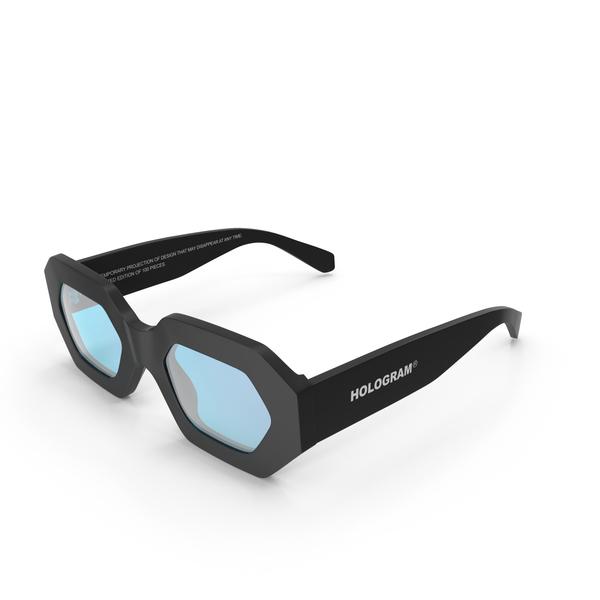 Sunglasses: Hologram Black Blue PNG & PSD Images