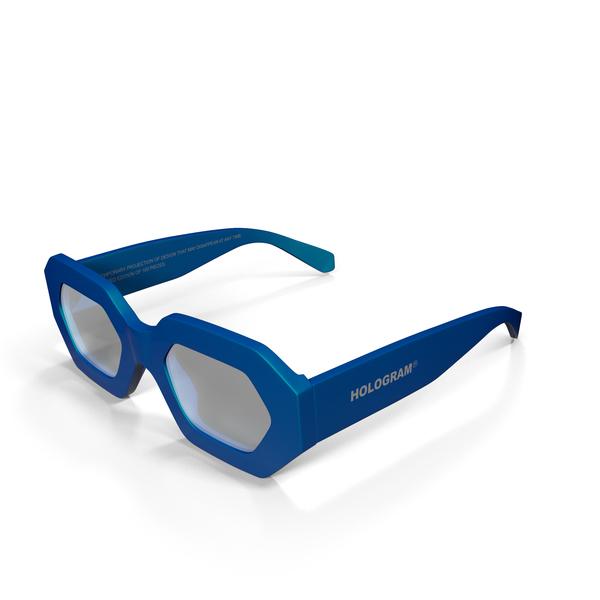 Hologram Chamelion Blue Sunglasses PNG & PSD Images