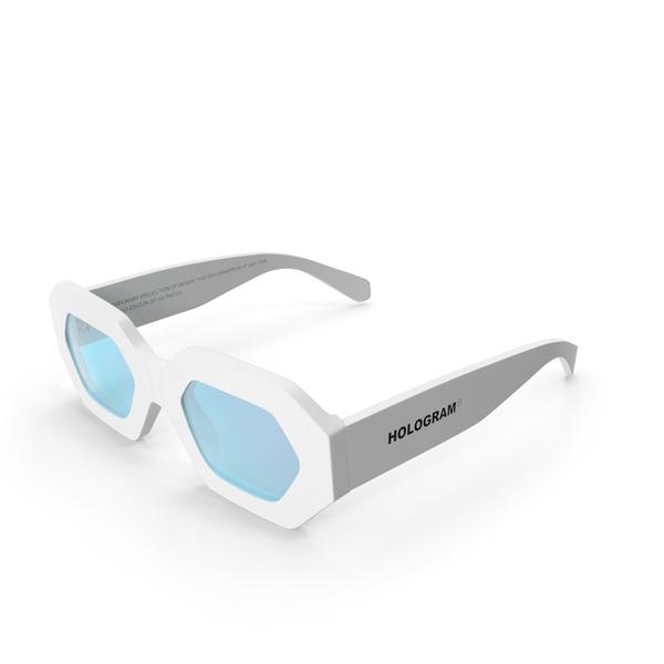 Hologram Chamelion White Sunglasses PNG & PSD Images
