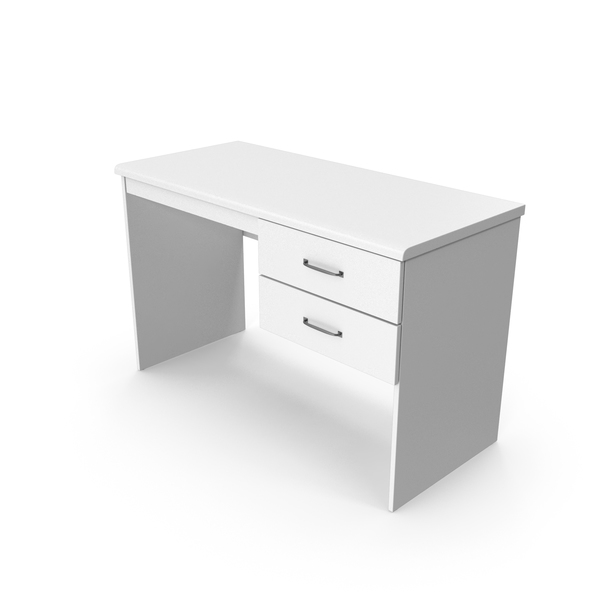 Home Office Desk White PNG & PSD Images