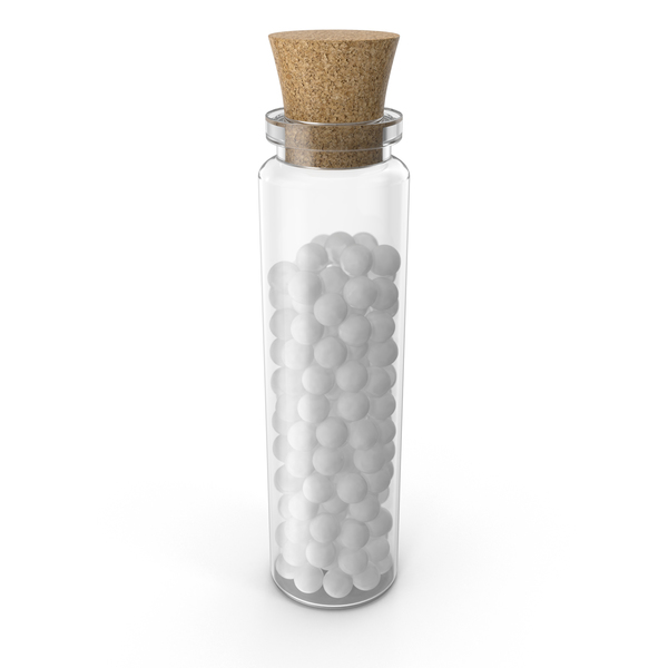 Homeopathic Globule Medicine Bottle PNG & PSD Images