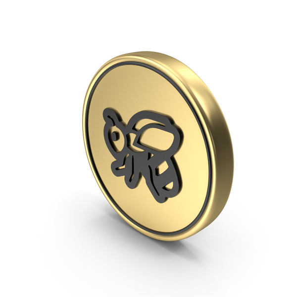 Honey Bee Coin Logo Icon PNG & PSD Images