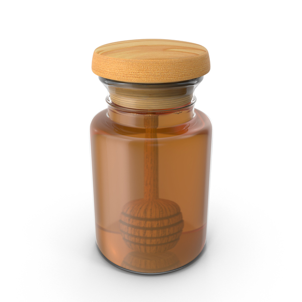Honey Jar and Drizzler PNG & PSD Images
