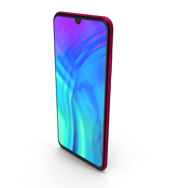 Honor 20 Lite Phantom Red PNG & PSD Images