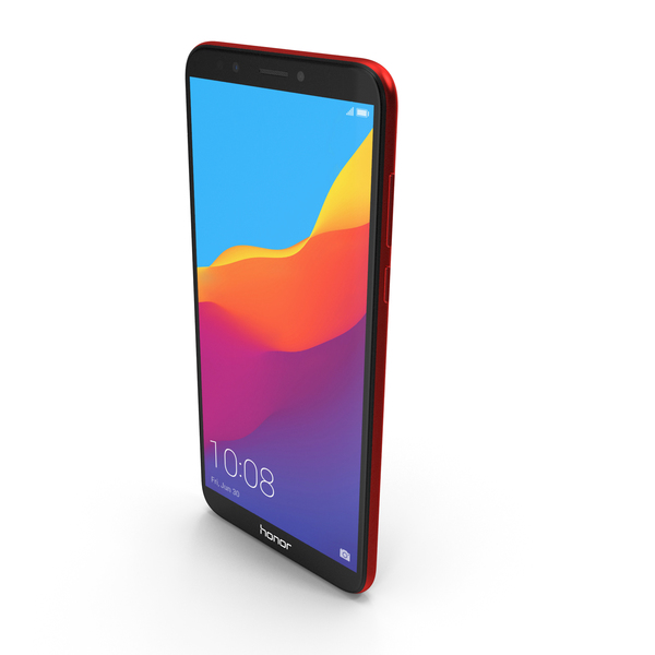 Honor 7C Red PNG & PSD Images