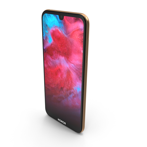Honor 8S Gold 2019 PNG & PSD Images