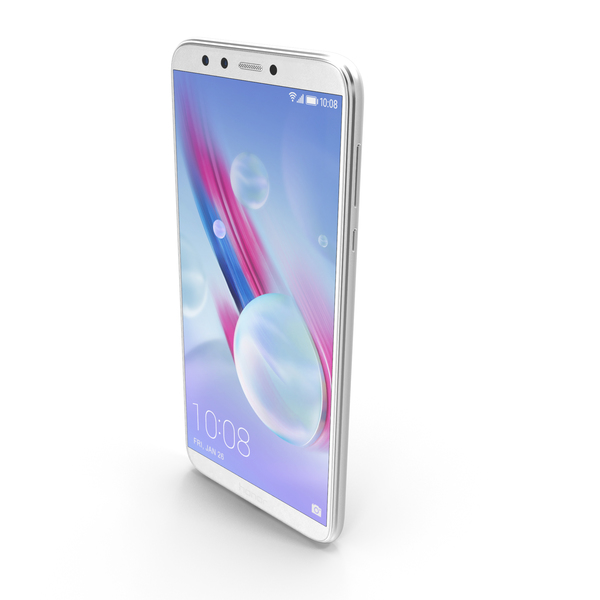 Honor 9 Lite Pearl White PNG & PSD Images