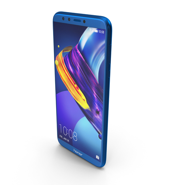 Honor 9 Lite Sapphire Blue PNG & PSD Images