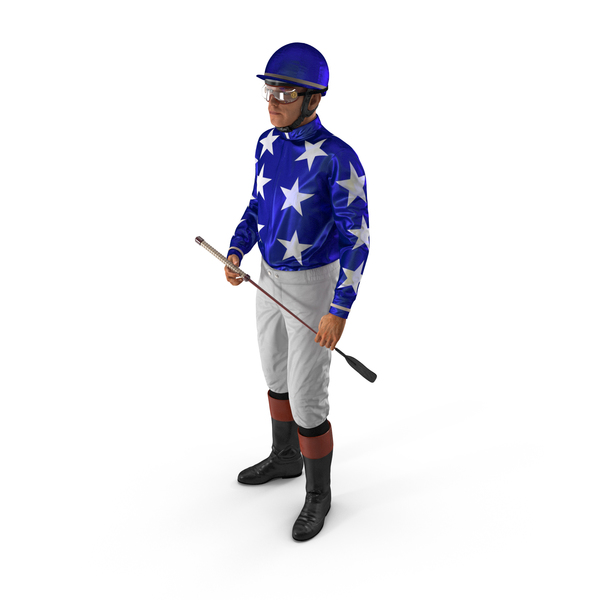 Horse Racing Jockey Standing Pose PNG & PSD Images