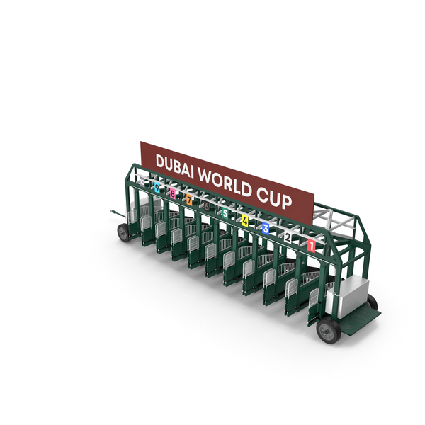 Horse Racing Starting Gates Dubai World Cup 10 Slots PNG & PSD Images
