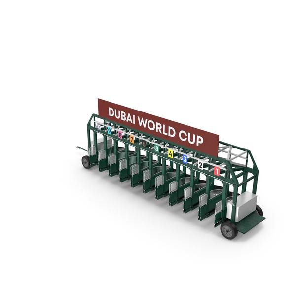 Horse Racing Starting Gates Dubai World Cup 10 Slots PNG & PSD Images