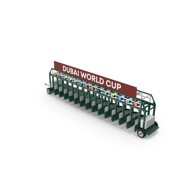 Horse Racing Starting Gates Dubai World Cup 14 Slots PNG & PSD Images