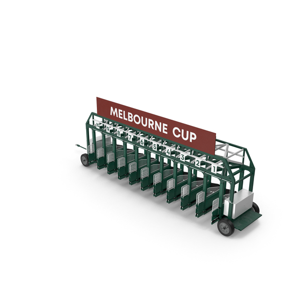 Horse Racing Starting Gates Melbourne Cup 10 Slots PNG & PSD Images