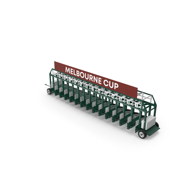 Horse Racing Starting Gates Melbourne Cup 14 Slots PNG & PSD Images