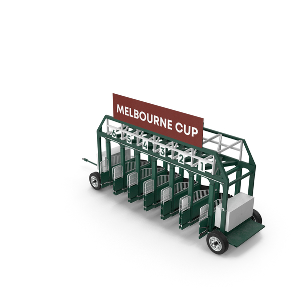Horse Racing Starting Gates Melbourne Cup 6 Slots PNG & PSD Images