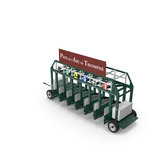 Horse Racing Starting Gates Prix De I'Arc de Triomphe 6 Slots PNG & PSD Images