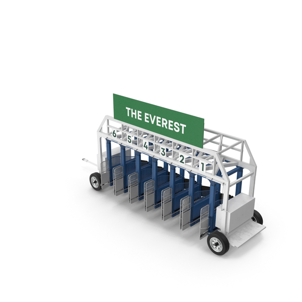 Horse Racing Starting Gates The Everest 6 Slots PNG & PSD Images