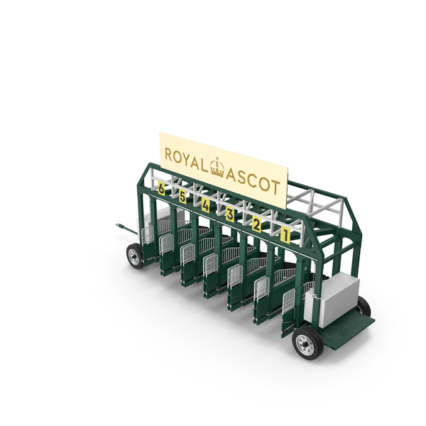 Horse Racing Starting Gates The Royal Ascot 6 Slots PNG & PSD Images