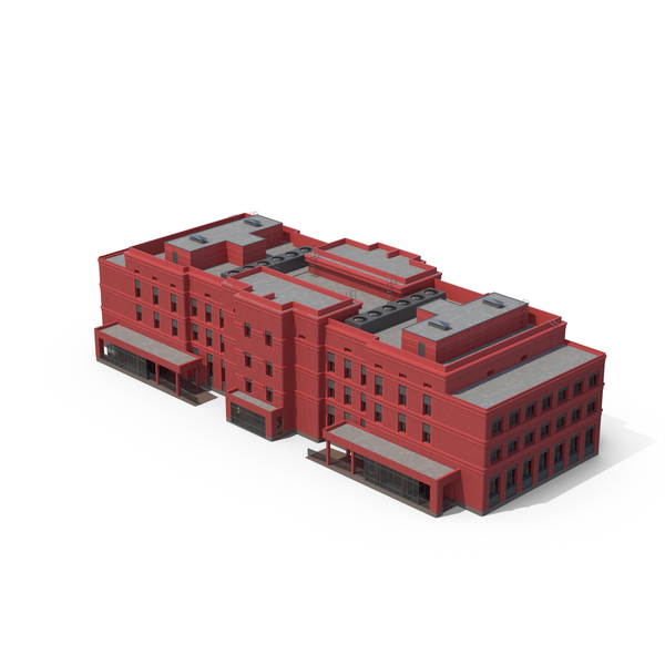 Hospital Building Red PNG & PSD Images