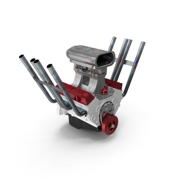 Hot Rod V8 Engine PNG & PSD Images