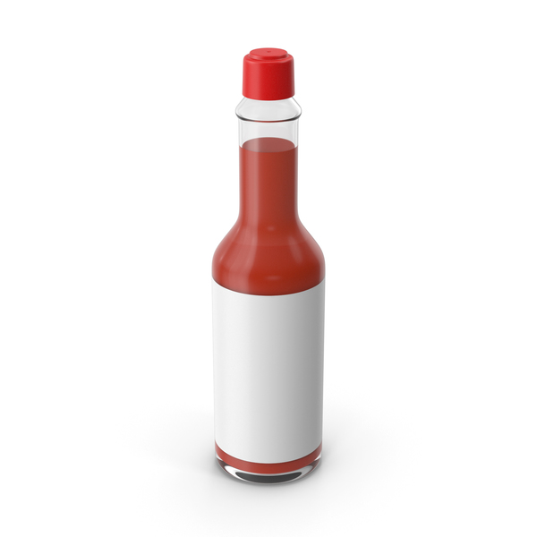 Condiment Dispenser: Hot Sauce Bottle PNG & PSD Images