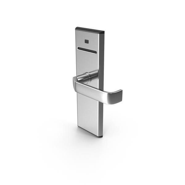 Keycard: Hotel Door Handle Lock Mechanism PNG & PSD Images
