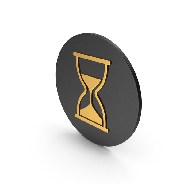 Computer: Hourglass Gold Icon PNG & PSD Images