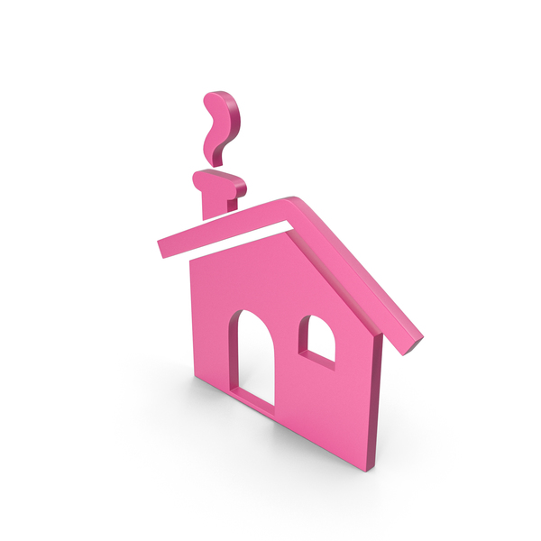 Symbols: House Pink Icon PNG & PSD Images