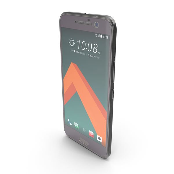 HTC 10 Carbon Gray PNG & PSD Images