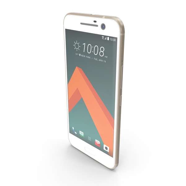 Smartphone: HTC 10 Topaz Gold PNG & PSD Images